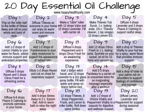 20 Day Essential Oil Challenge