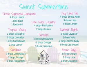 Sweet Summertime Diffuser Blend Postcard